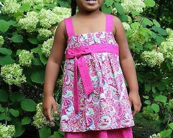 Girls Pleated Layered Dress Size 4