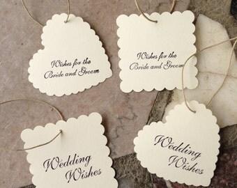 Wedding Wishing Tags -Set of 100