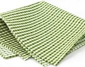 Gingham Light Green Pocket Square