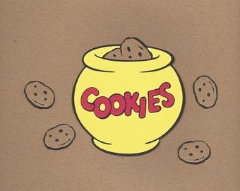 1- 4 inch tall Cookie Jar with cookies Cricut Die Cut