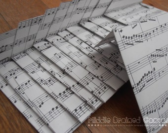 Sheet Music - Envelope and Gift Tag Set
