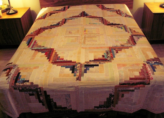 Unfinished Quilt Top Curved Log Cabin Design