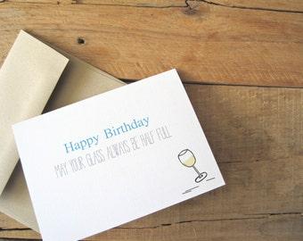 Wine Birthday Card. Funny Birthday card