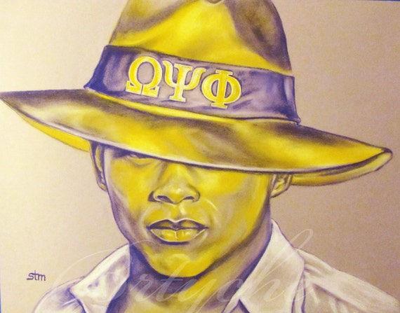 Omega psi phi african american art afro art african american wall