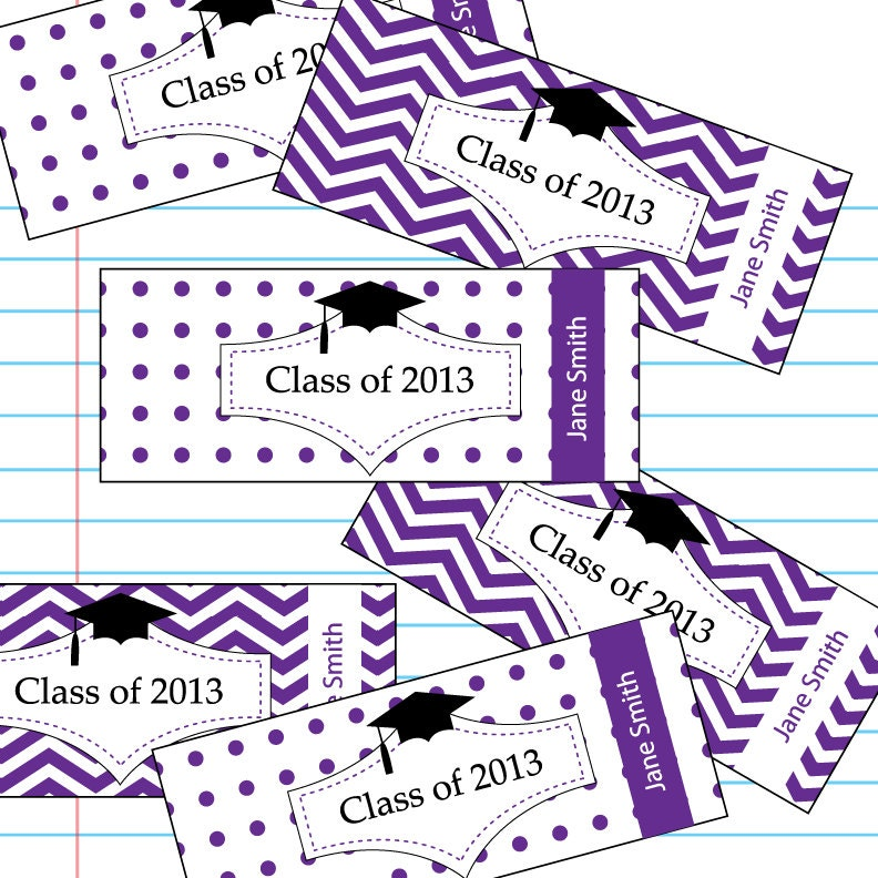 Graduation cap hershey candy bar wrapper labels graduation for Free printable graduation candy bar wrappers templates