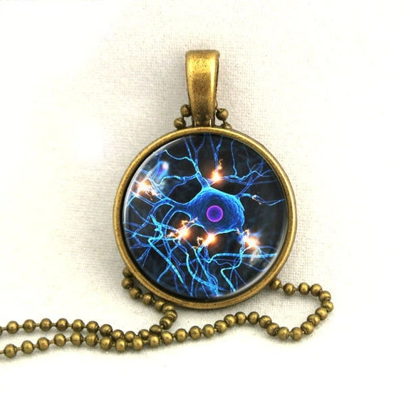 10% SALE Necklace Neuron Cell Brain Cell Medical Pendant Necklaces Gift