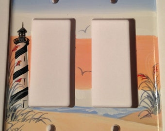 Cape Hatteras Lighthouse Double Rocker Lightswitch Cover