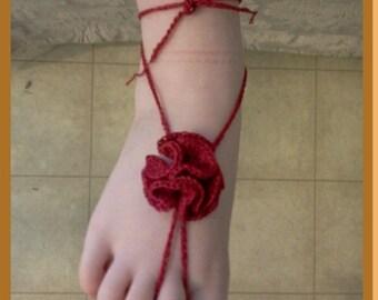 Baby Barefoot Carnation Sandals Pattern