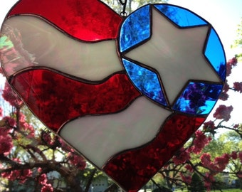American Love - Stained Glass Heart