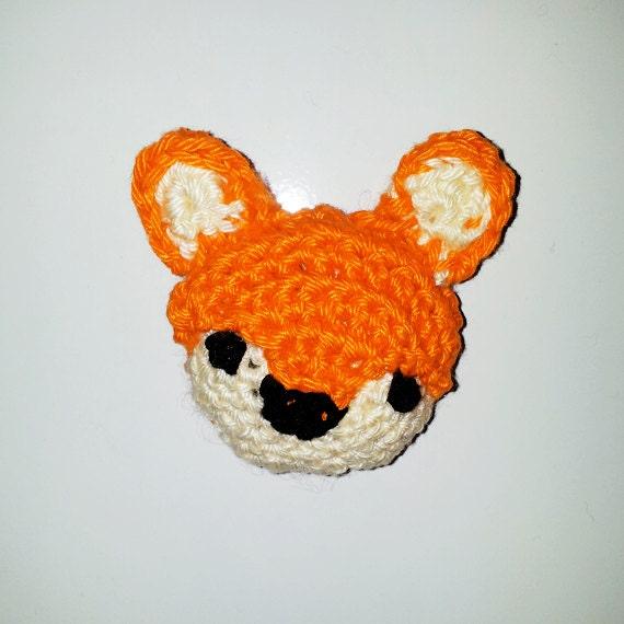 Little Fox Amigurumi : Little amigurumi crocheted fox magnet