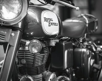 Royal Enfield - Modern Classic Motorcycle No. 1 - New York Photography - 8x12 Fine Art Black and White Print