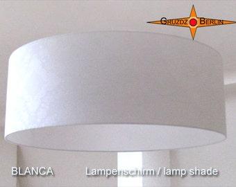 white lamp shade BLANCA Ø60 cm white damask lamp