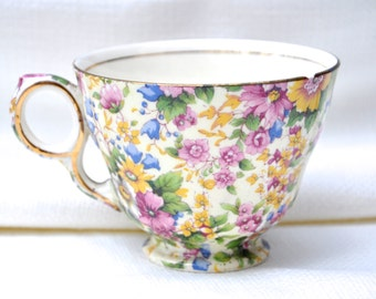 Chintz China Teacup by Royal Winton