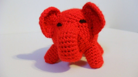 Red Stuffed Elephant Animals Small Elephant Toy By