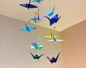 Aquatic Themed Origami Crane Mobile