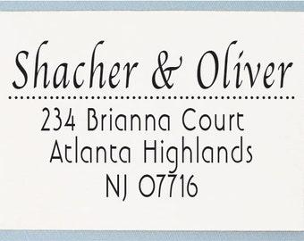 Custom Return Address Stamp  - Personalised Address Stamp - Cursive Script Name - AS13