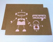 Robot Card ~ Mother's Day ~ Birthday ~ Baby Shower ~ Thinking of You