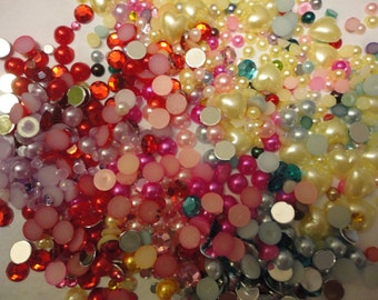 Sale  Tokimeki pearl and stone mixed colors sizes  A   more than 500pcs---USA seller