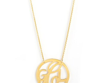 3 -Initial Personalized, Monogram Jewelry in 14k gold.