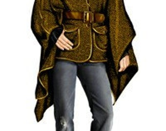 5726 Personalized Cape Sewing Pattern - Women Mantle, Ladies Clothes, PDF pattern