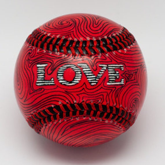 Baseball Wedding Gifts: Items Similar To LOVE Baseball, Gift Baseball, Baseball