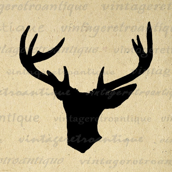 Deer Silhouette Image Graphic Digital Buck by ...
