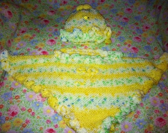 2pc Poncho and Hat set......ready to ship...