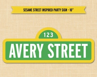 Sesame Street Party Printable - Sesame Street Birthday Party Custom Name Sign Printable Party Decoration