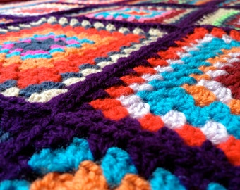 custom-made crochet blanket, medium, 130cm x 130cm