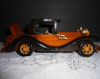 Hand Carved Wood Car