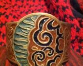 Sun/moon fire/wind cuff bracelet