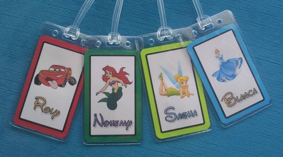Set Of Two Personalized Luggage Tags For Your Disney World