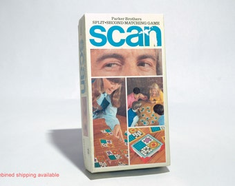 Scan Split Second Matching Game from Parker Brothers 1970 COMPLETE (read description)