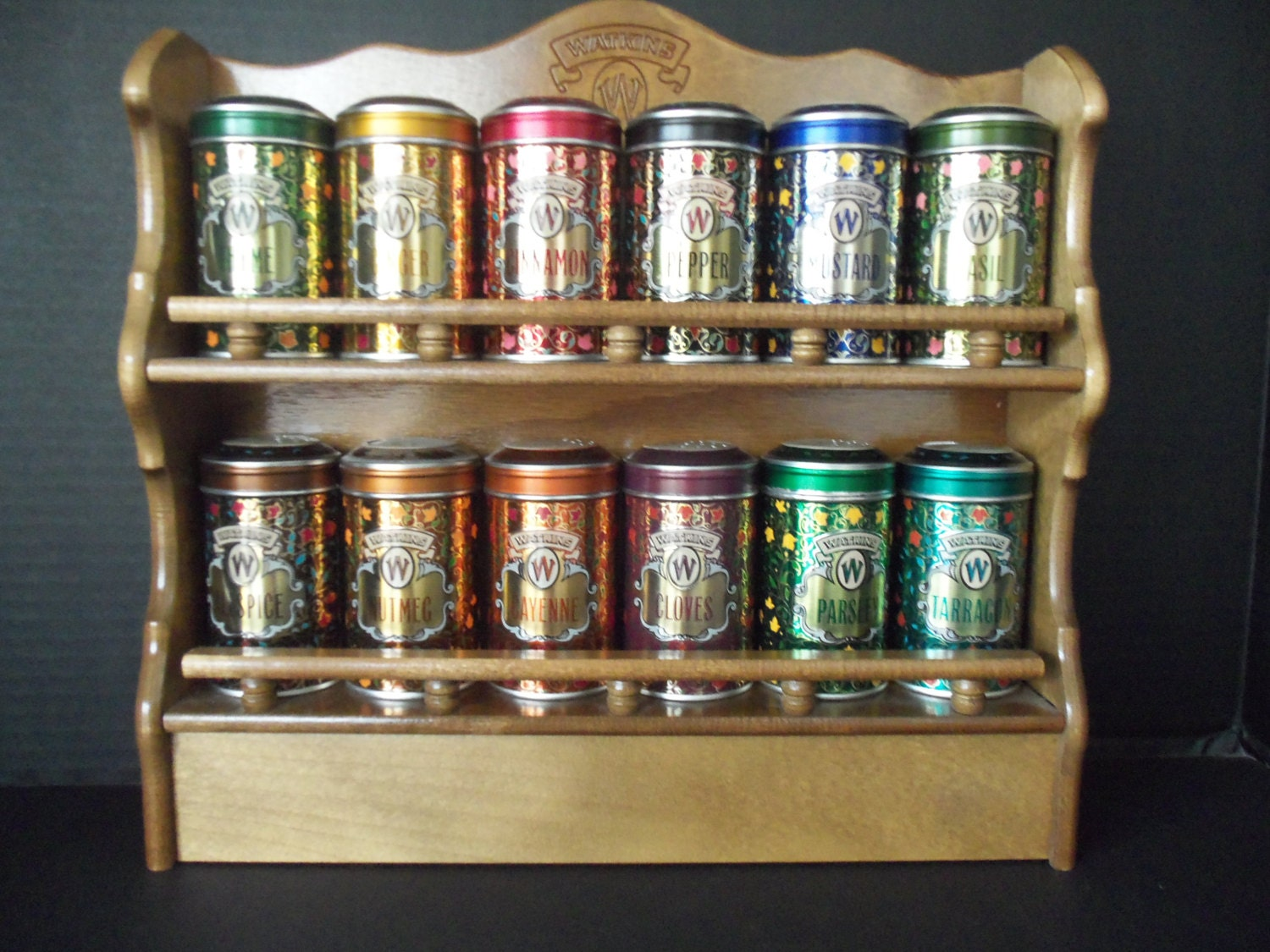 Spice Rack Wooden Watkins Spice Tins Set Of 12 Tins Limited