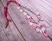 Vintage OOAK Banjara Free People Esque Coin Necklace