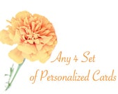 Any 4 Sets of Personalized Stationary Cards, Eco Friendly Personalized Gift