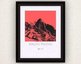 Machu Picchu Art Poster