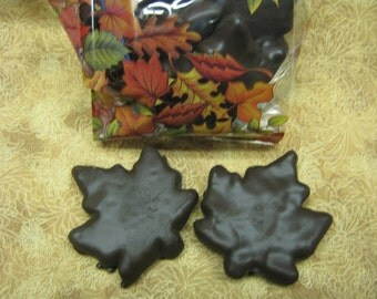 Homemade candy,chocolate peanut butter fall leaves,gourmet candy, Thanksgiving candy,Amish candy,Amish food qty 6