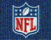 Digital NFL mosaic: team of your choice, Multiple mosaics, make your own posters