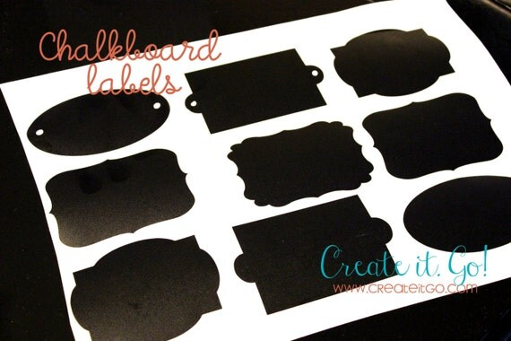 Decorative Chalkboard labels with Adhesive Backing