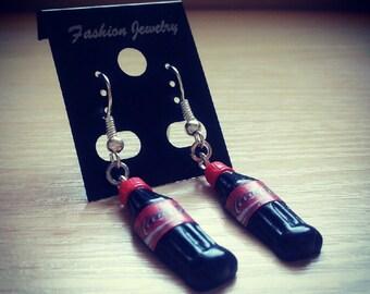Cola bottle dangle earrings