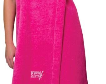 8 Womens Terry Velour Spa Wraps with Monogram Bridesmaid Gift