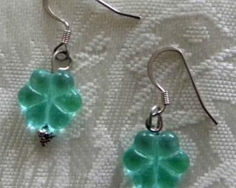 Blue/Green Flower Earrings