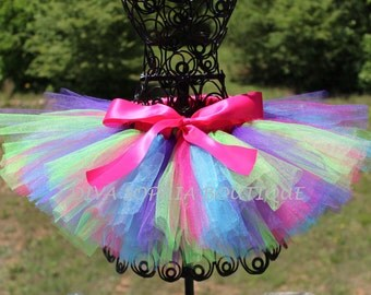 Lollipop Tutu - Birthday Tutu - Newborn, Infant, Toddler up to size 4T