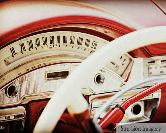 BelAir Speedometer - Rustic Wall Art - Classic Car Art Prints - Retro Print - Vintage Car Photography - Garage Art