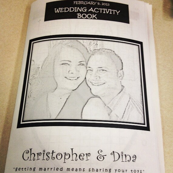 Items Similar To Kids Wedding Activity Amp Coloring Book Personalized On Etsy