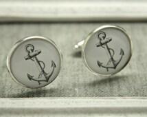 Anchor Nautical Cufflinks Mens Accessories