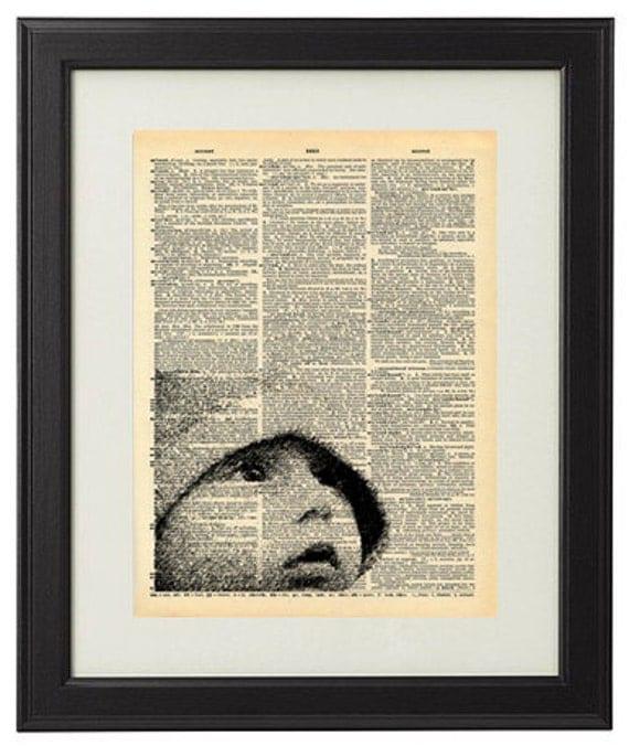 Custom Art DIGITAL FILE, Printable, YOUR Photo, Vintage Dictionary Page Collage, Dictionary Page Your Photo, Family Anniversary Love Gift