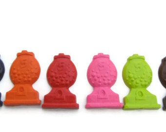 Gumball machine crayons set of 6 - party favors