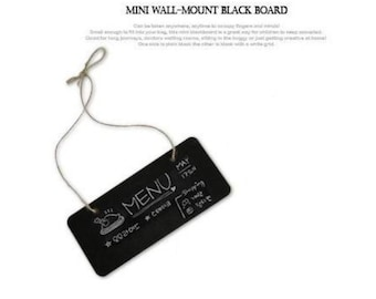 1 Mini Hanging Wall Blackboard. 18.5cm x 8cm. Crafting Supplies. DIY. Vintage Style. Natural Country Style. Interior Decoration. Chalkboard